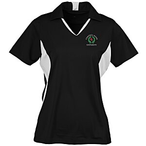 Side Blocked Micropique Sport-Wick Polo - Ladies' Main Image
