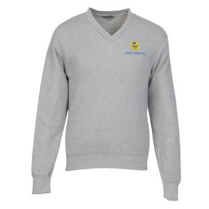 Ultra-Soft Cotton V-Neck Sweater - Men's Main Image