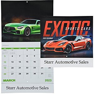 Exotic Sports Cars Calendar - Stapled Main Image