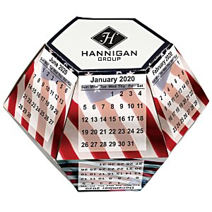 Pop Up Calendar - USA Flag Main Image