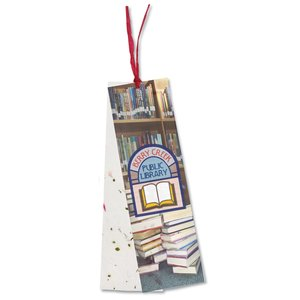 Seeded Message Bookmark - Scarlet Sage