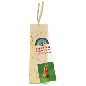 Seeded Message Bookmark - Marigold Main Image