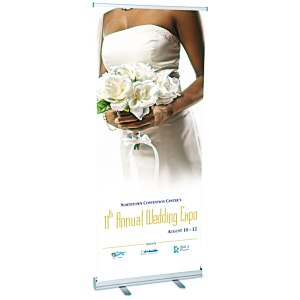 Value Retractable Roll-Up Banner Main Image