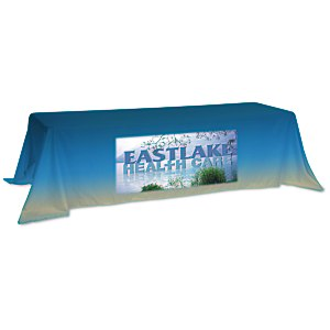 "Value Closed-Back Table Throw - 88"" x 132"" - Full Color Main Image"