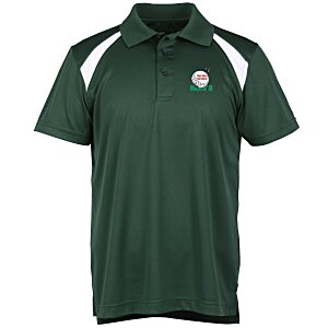 Harriton Polytech Colorblock Polo - Men's
