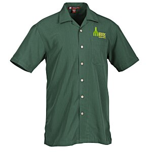 Harriton Barbados Textured Camp Shirt - Men's