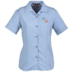 Harriton Bahama Cord Camp Shirt - Ladies'