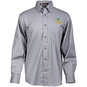 Harriton Twill Shirt with Stain Release - Men's Main Image