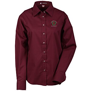 Harriton Twill Shirt with Stain Release - Ladies'