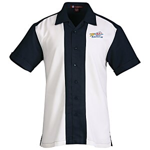 Harriton Two-Tone Bahama Cord Camp Shirt Main Image
