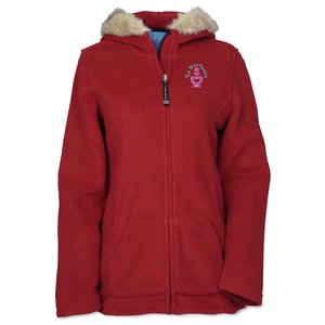 Faux Fur Trimmed Fleece Hoodie Main Image
