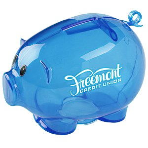 Action Piggy Bank - Translucent