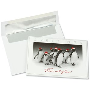Dressed Up Penguins Greeting Card Main Image