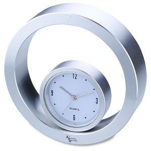 Rolling Metal Desk Clock Main Image