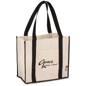 Jute Non-woven Renew Compartment Tote - Closeout Main Image