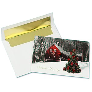 Patriotic Barn Greeting Card Main Image