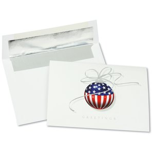 Patriotic Ornament Greeting Card - Main Image