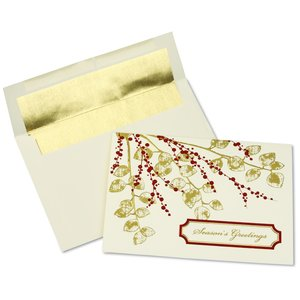 Textured Leaves Greeting Card Main Image