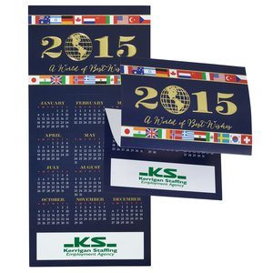 World of Best Wishes Calendar Greeting Card Main Image