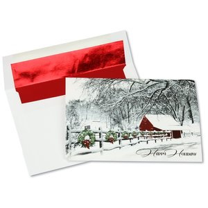 Decorations of Red & Green Greeting Card Main Image