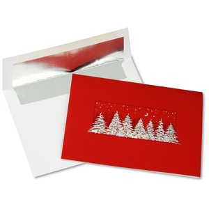 Glistening Treeline Greeting Card