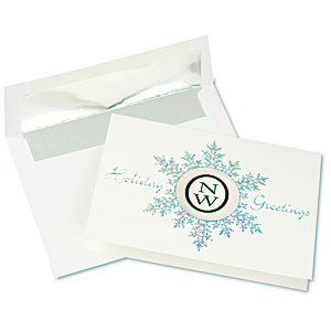 Die-Cut Prismatic Snowflake Greeting Card Main Image
