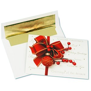 Red Ornament Greeting Card Main Image