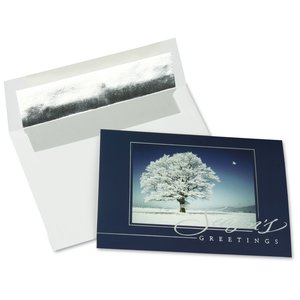 Snow Covered Tree Greeting Card Main Image