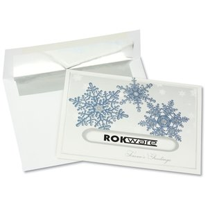 Snowflake Die-Cut Greeting Card Main Image