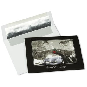 Snowfall at Night Greeting Card Main Image