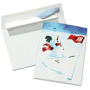 Winter Bogey Greeting Card
