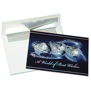 World of Best Wishes Greeting Card Main Image