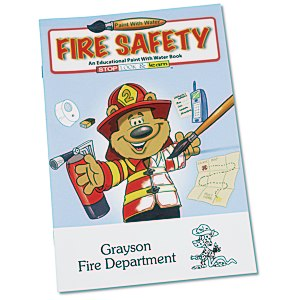 Paint with Water Book - Fire Safety Main Image