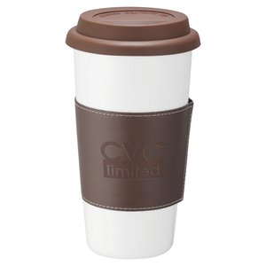Double Wall Ceramic Tumbler w/wrap - 15 oz. Main Image