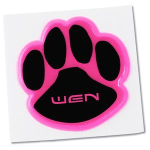 "Reflective Sticker - Paw - 2"" Dia. Main Image"