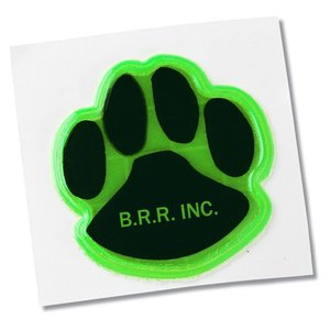 "Reflective Sticker - Paw - 1-1/4"" Dia. Main Image"