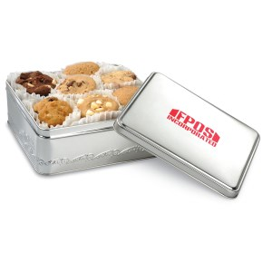 Mrs. Fields Nibblers Bite Sized Cookie Tin - Rectangle Main Image