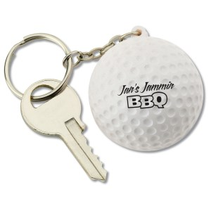 Squishy Key Tag - Golf Ball Main Image
