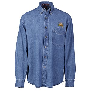 Harriton Long Sleeve Denim Shirt - Men's Main Image