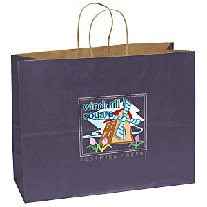 "Matte Shopping Bag – 12"" x 16"" - Full Color Main Image"