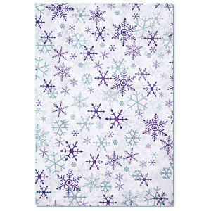 Tissue Paper - Silver & Purple Snowflakes Main Image