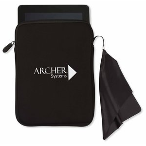 Tablet Sleeve with Microfiber Cleaning Cloth Main Image