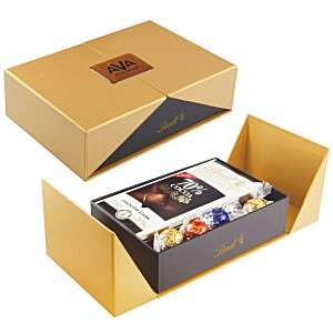 Gift Box with Lindor Truffles and Chocolate Bar Main Image