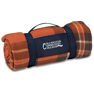 Galloway Travel Blanket – Rust Plaid Main Image
