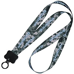 "Dye-Sublimated Lanyard - 3/4"" - Digital Camo Main Image"