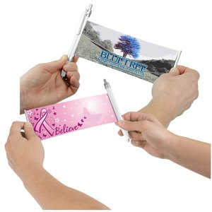 Banner Pen - Pink Ribbon - Butterflies Main Image