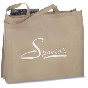 "Gusseted Polypropylene Tote - 20"" x 16"" - Closeout Main Image"