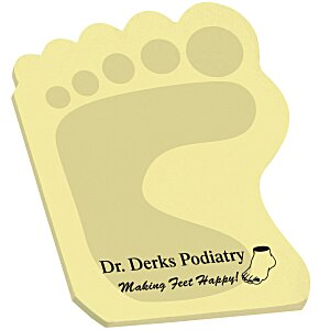 Post-it® Custom Notes - Foot - 25 Sheet - Stock Design Main Image