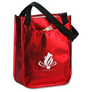 Metallic Laminated Gift Tote Main Image