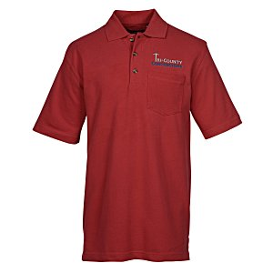 Ultra Club Pique Golf Shirt with Pocket Main Image